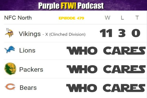 Purple FTW! Podcast: Vikings-Bengals Recap - Grand Opening, Grand Closing (ep. 479)