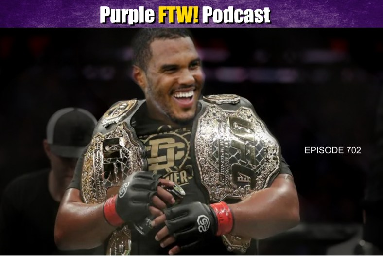 Purple FTW! Podcast: Who's the Vikings WR3? LOL Browns. Vikes to MMA? Scoops with Darren Wolfson. (ep. 703)