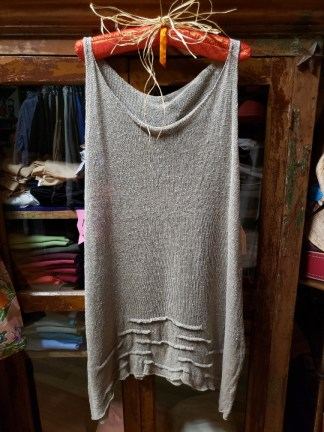 Cara May Large Wavy Natural Knit Tank 3311