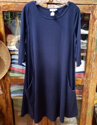 prairie cotton blue two pocket dress 5616