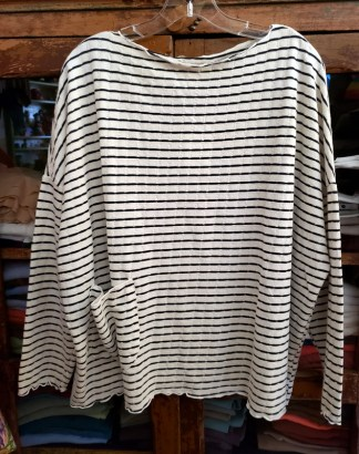 One Size Pocket Pullover Stripe