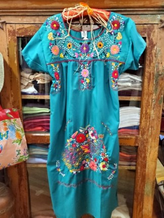 Mexican Embroidered Dress 4418