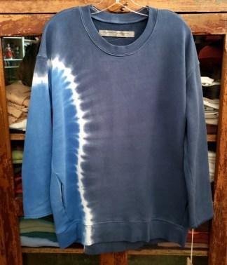 Raquel Allegra Oversize Sweatshirt Tie Dyed in Sky 5215