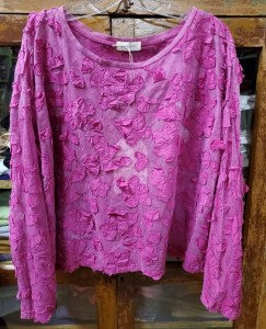 Krista Larson T-Shirt Crop Berry Flower 4231