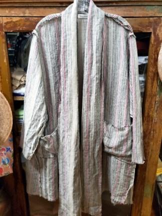 Krista Larson Billowy Coat Flax/Berry 2421