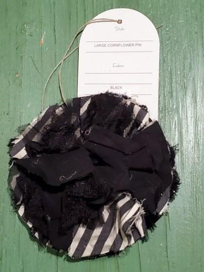 Krista Larson Large Black Mix Cornflower Pin 0330