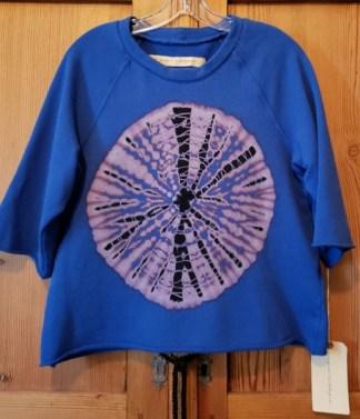 Raquel Allegra Tie Dyed Boyfriend Sweatshirt in JPTB Z97-4036TD