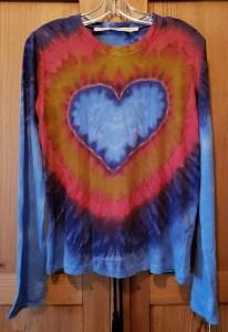 Raquel Allegra Tie Dyed Long Sleeve Crew in Heart Z97-4031 HTD