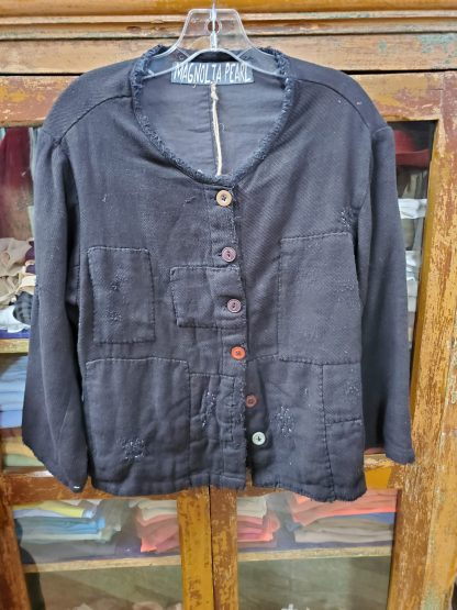 Magnolia Pearl Woven Cotton Sturla Jacket 356 in Midnight