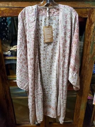 Magnolia Pearl Block Print Kimono Jacket 320 in Saige