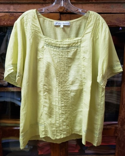 JP and Mattie Summer Blouse 3256 in lime