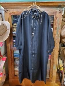 Metta Melbourne Ophelia Fine Shirt Dress in Black