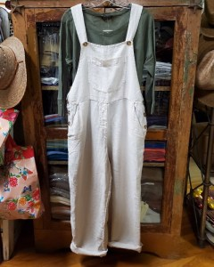 Metta Melbourne Land Girl Overalls in Stone