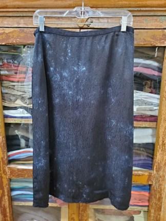 Raquel Allegra Black Tie Dyed Bias Skirt YD3-8325TD
