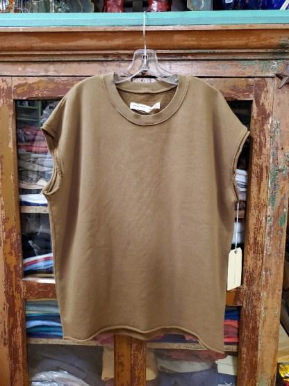 Raquel Allegra Cutoff Sweatshirt in TOBACCO 4043
