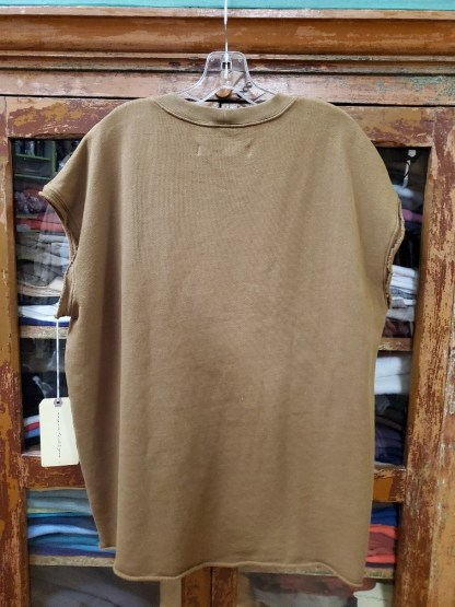 Raquel Allegra Cutoff Sweatshirt in TOBACCO 4043