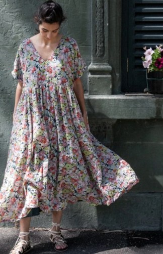 Metta Melbourne Flossie Dress 0324 -- Garden Floral