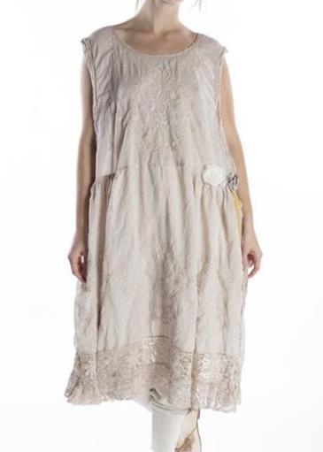 Magnolia Pearl Cotton European Cotton Embroidered Seraphina Dress 704 -- Moonlight