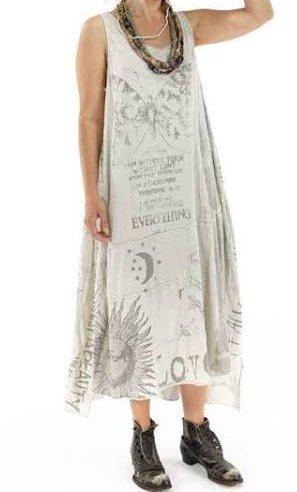 Magnolia Pearl Art Graphic Layla Tank Dress 657 - Moonlight