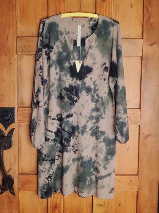 Raquel Allegra Classic Jersey Getty Dress 1849TD Army Calico TD