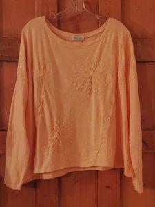 Krista Larson Queen Anne's Lace Tee Shirt Crop Long Sleeve 3032 Apricot