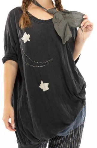 Magnolia Pearl Cotton Jersey Oversized Francis T Top 1044 Midnight