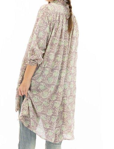 Magnolia Pearl Cotton Gauze Block Print Cordelia Night Shirt Top 1046 Lissa