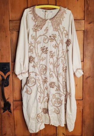 Magnolia Pearl Leola Embroidered Smock Coat Jacket 504 Moonlight