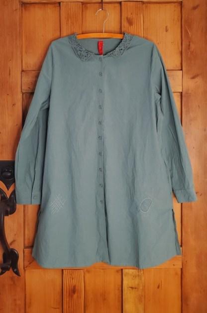 Ewa i Walla Long Sleeve Tunic/Dress 44792 Jade