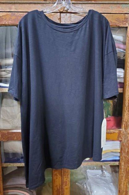 Krista Larson Solid T-Shirt Short Sleeve 4916 Black