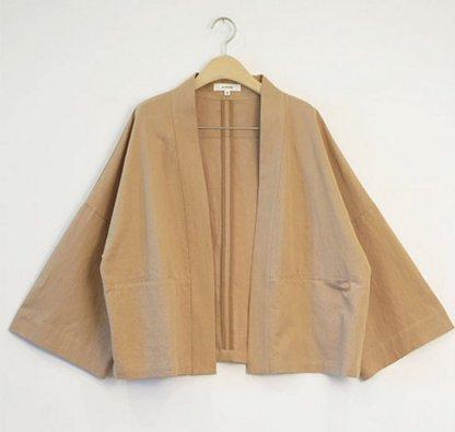 Amente -- Open Front Jacket 1024 Khaki