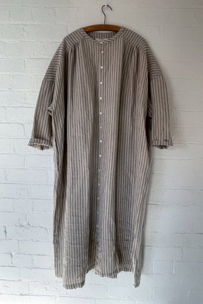 Metta Melbourne Poets Dress 7843 Ticking Stripe
