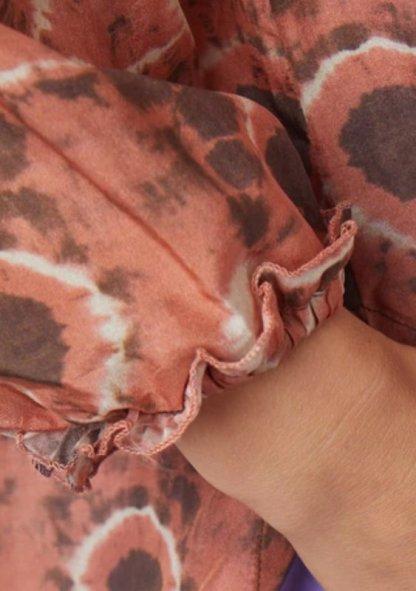 Raquel Allegra Ether Blouse Print y214-855 Tie Dye Lace in Silk