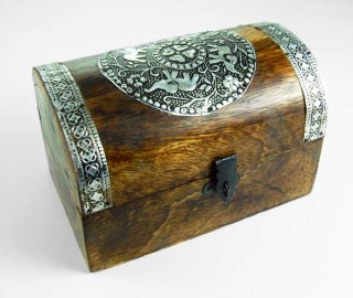 Elephant Wooden Chest