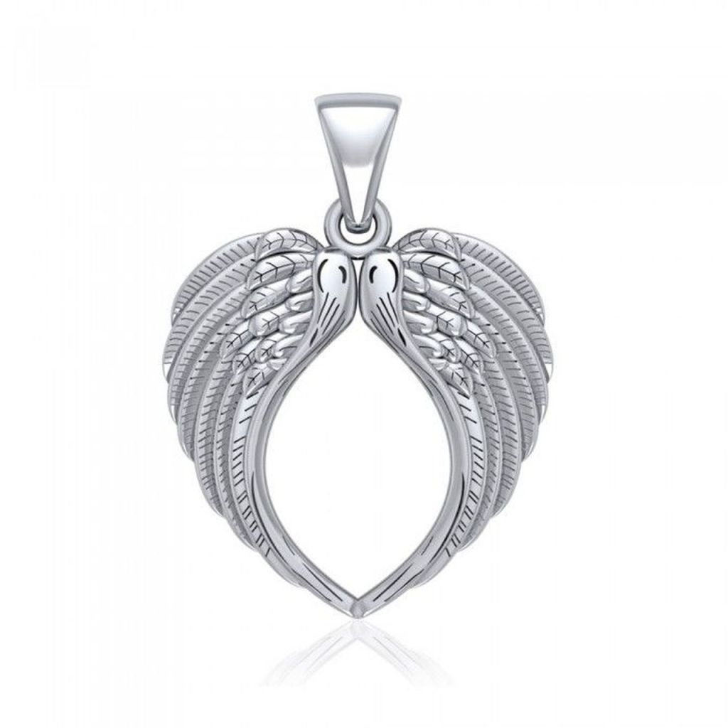 Angel Wing Heart Pendant
