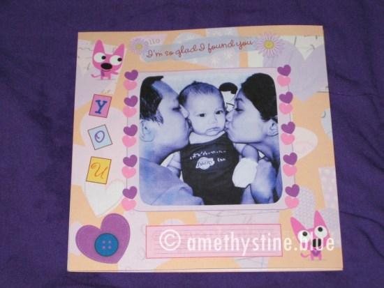 Hoops and Yoyo Scrapbook Card from Hallmark