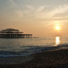 photo - sunset at the old pier brighton