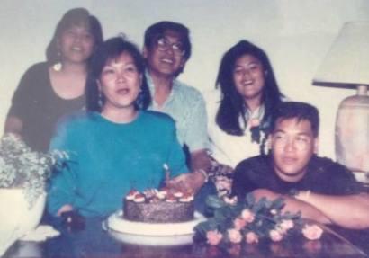 Celebrating Mom's 45th Birthday (31 July 1991)