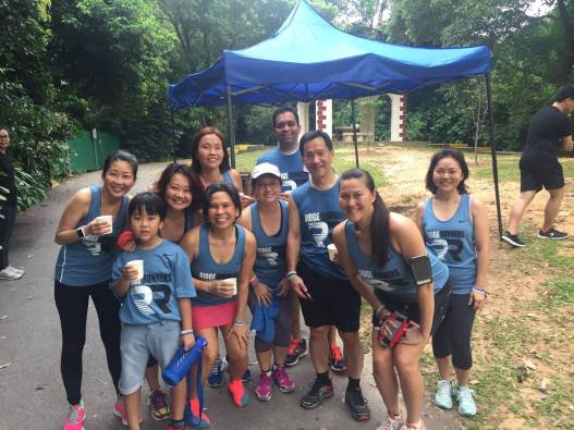 We made it to the 5km Drink Station! Photo credit: Doreen