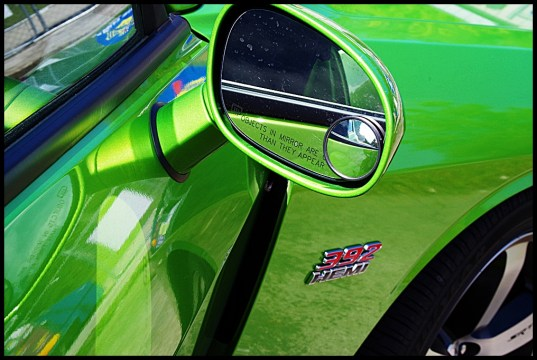 "The Green Machine or Dodge Challenger ""Green With Envy."""