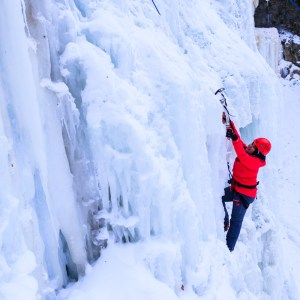 Ice climbing in the waterfall capital of the world