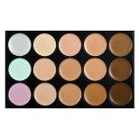 makeup-maquiagem-15-color-concealer-lot-face-cream-contour-palette-maquillaje-dermacol-with-makeup-brush