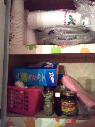slob, humor, spice cabinet
