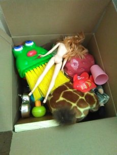 slob, humor, toys to donate