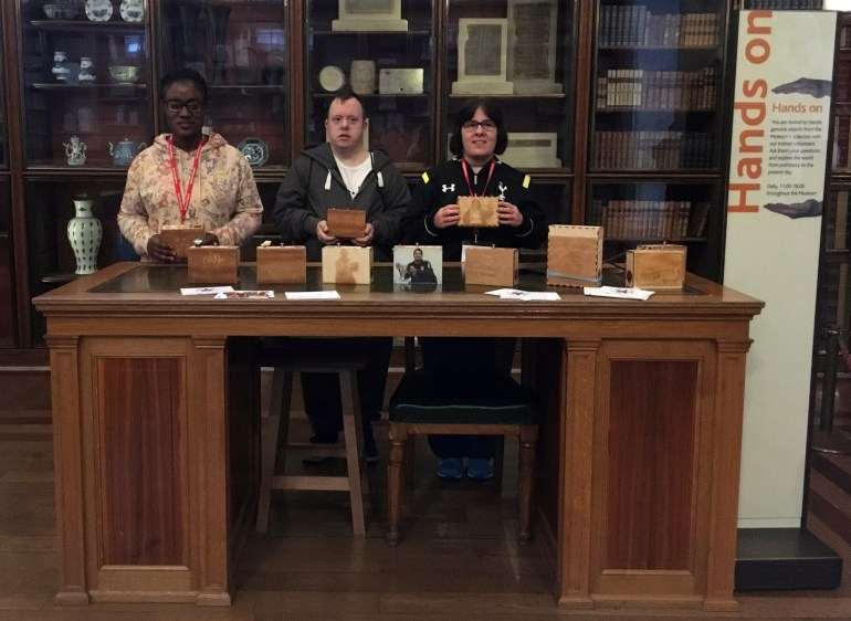 purpleSTARS in the Enlightenment Gallery at the British Museum on purpleLightupDay with their Sensory Labels