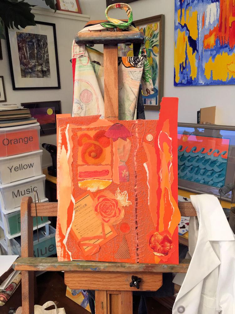 Piece in studio