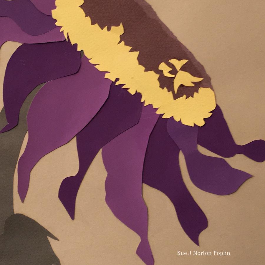 The Purple Sunflower detail