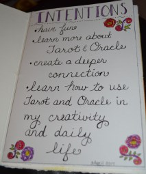 Intentions page