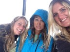 Inge, Elle and I in the cold rainy town of Baños