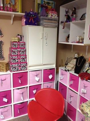 FIL built dollhouse, used as shelf
